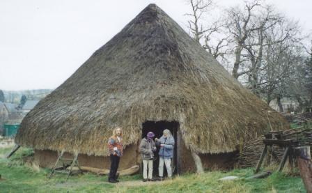 2 Iron Age roundhouse